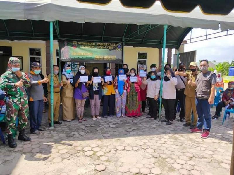 Dinas sosial tebing tinggi - Kegiatan Vaksinasi KPM PKH di Seluruh Kecamatan